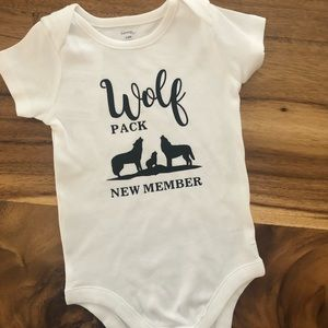 Other - Wolf pack baby onesie